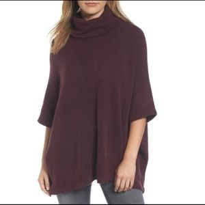 4/$20 Caslon Cow Neck Sweater Poncho